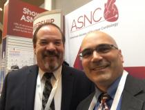 "Robert Quaife, M.D., director of advanced cardiac imaging, University of Colorado Hospital, with DAIC Editor Dave Fornell at ASNC 2019. Watch an interview with Quaife in the <a href=""https://www.dicardiology.com/videos/video-role-advanced-imaging-structural-heart-interventions""> VIDEO: The Role of Advanced Imaging in Structural Heart Interventions.</a>#ASNC #ASNC19 #ASNC2019"