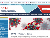 The Society for Cardiovascular Angiography and Interventions (SCAI) COVID-19 resource page on its website in mid-April 2020. Nearly all the cardiovascular societies have created virus resource pages where clinicians can find needed medical information. Patients with cardiac comorbitities have the highest mortality rate among COVID-19 patients, so cardiology departments have become involved in the care of these patients.