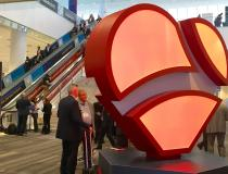 #TCT2019 #TCT #TCT19 The Cardiovascular Research Foundation (CRF) heart at TCT 2019.