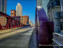 Empty Dearborn St. Across the Chicago River in downtown Chicago in the middle of the day during the work week in late March. The city of Chicago called for shelter in place orders and the downtown became a ghost town. Photo by Tom George Davidson.