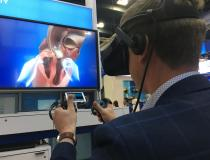 #TCT2019 #TCT #TCT19 A virtual reality game at Medtronic's booth where users can virtually dissect a heart implanted with a CoreValve TAVR valve.