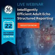WEBINAR: Intelligently Efficient Adult Echo Structured Reporting. GE Healthcare explains how AI assisted structured reporting can improve workflow