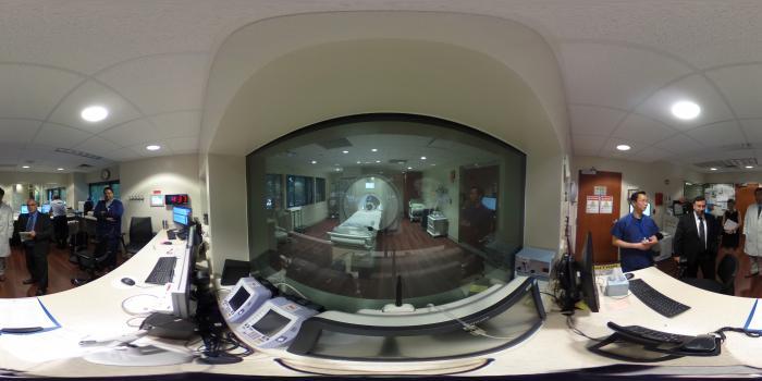 MRI Control Room at Balyor Heart Hospital for a Siemens 1.5T MRI system.