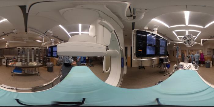 Philips Azurion Clarity angiography system in the hybrid cath lab at Henry Ford Hospital.