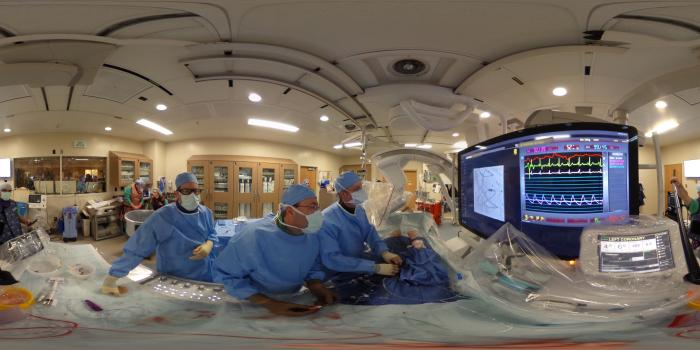 Philips Azurion Clarity IQ angiography system at the University of Colorado being used during a CTO case. Dave Fornell