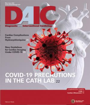 May-June 2020 cover of DAIC (Diagnostic and Interventional Cardiology) magazine. Dave Fornell is the editor