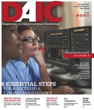 Diagnostic and Intervcentional Cardiology Magazine, DAIC, covers new cardiac technologies and trends. CVIS trends. The Editor is Dave Fornell.